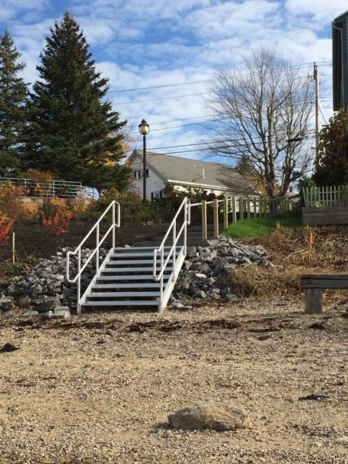 Bottom of Davidson's Beach stairs